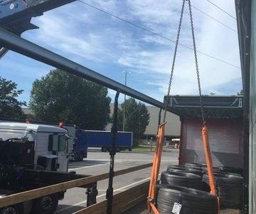 Takeldienst Van Looy - Overladen lading